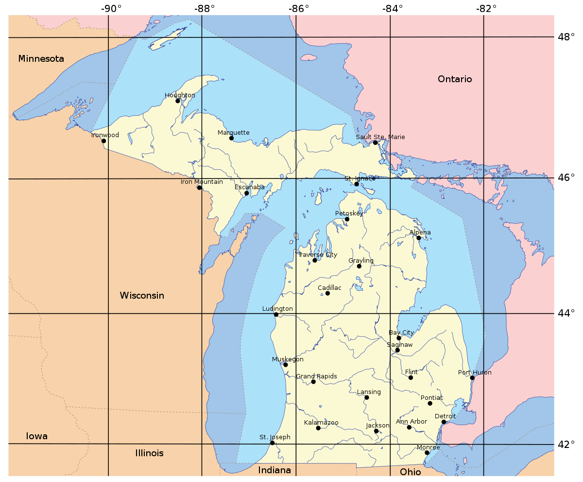 example of a peninsula in the united states