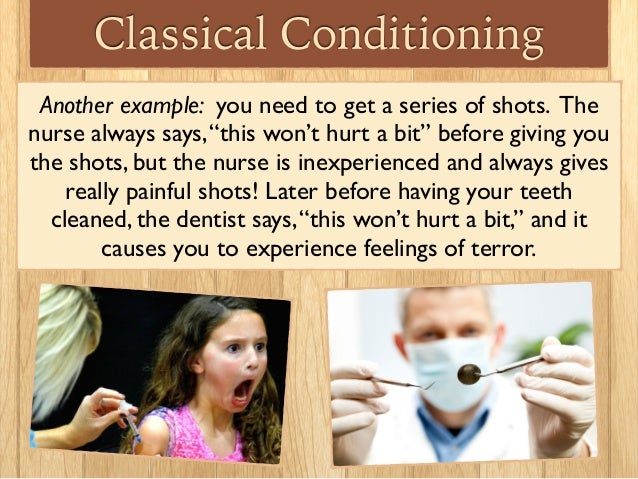 example of classical conditioning in human behavior