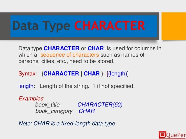 sql boolean data type example