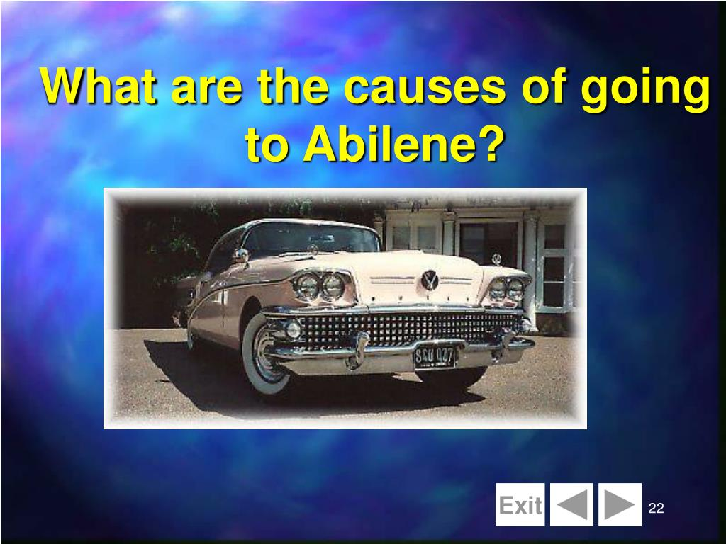 the abilene paradox is an example of