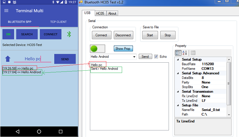 android bluetooth pairing code example