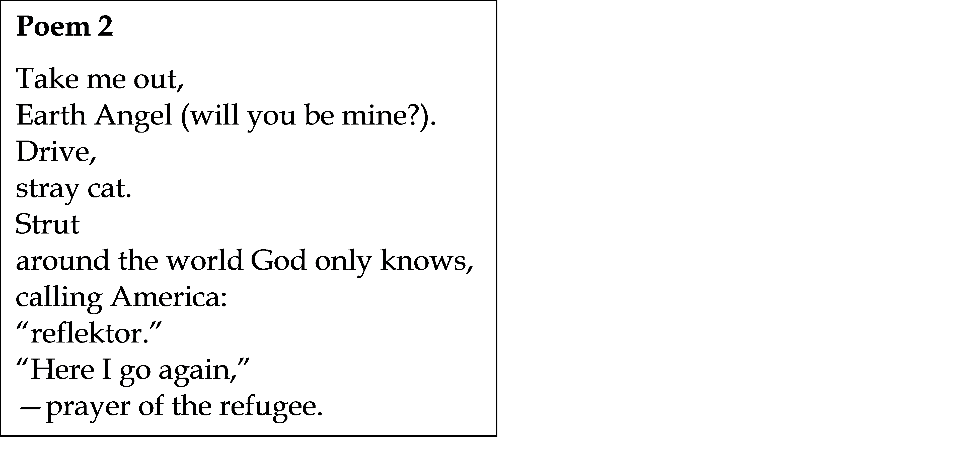 example of a verse in a song