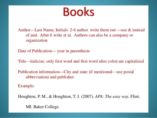 how to cite an author et al in apa example
