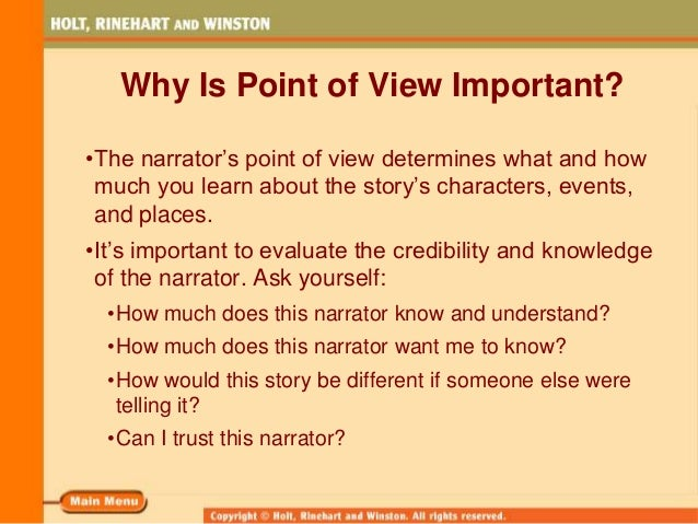 omniscient point of view example