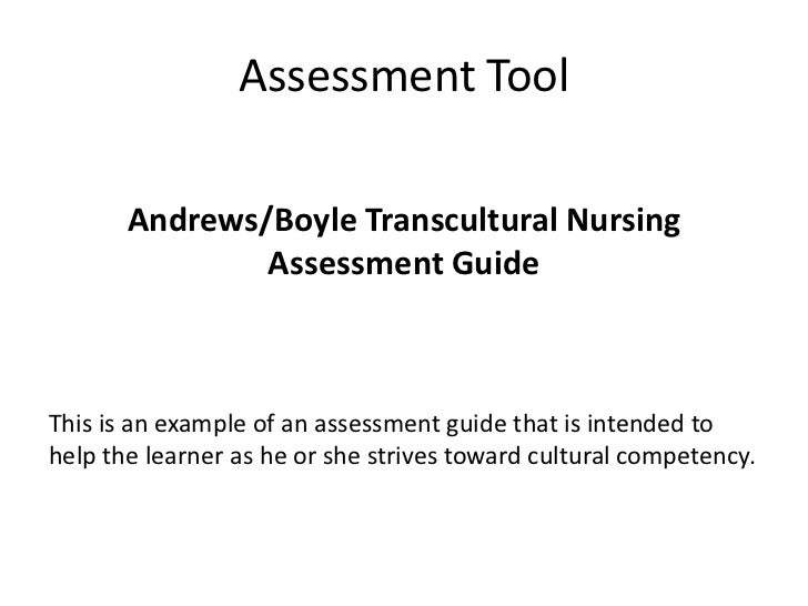 example of client assessment report