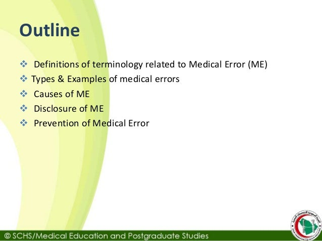 disclosure of error or omission-lsuc example