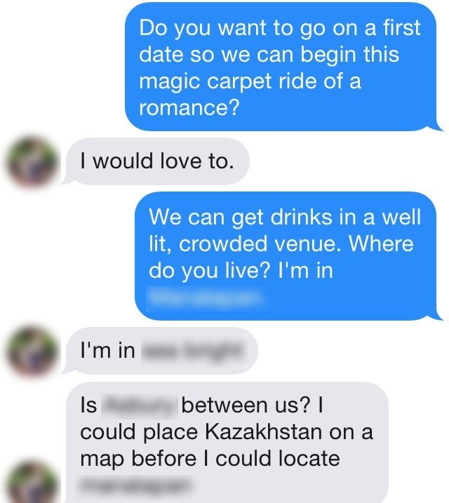first message on dating site example
