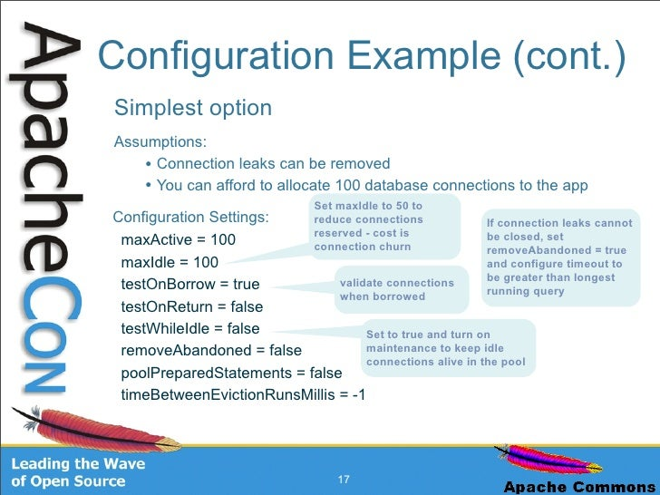 apache commons connection pool example