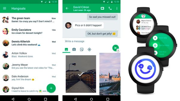 google hangout api android example