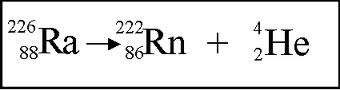 alpha decay equation and example
