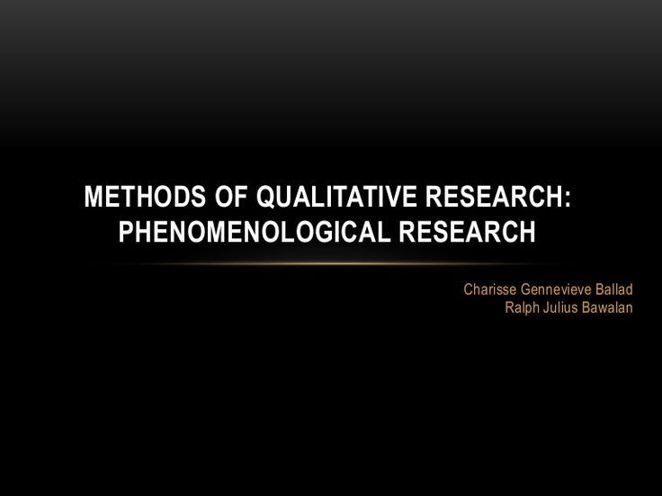 example of phenomenological research in education