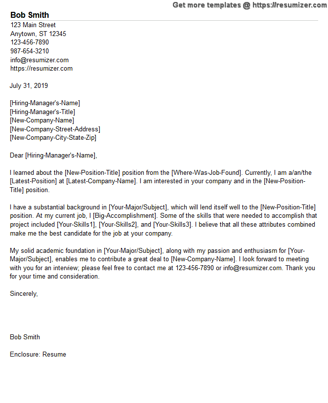 example of cover letter for economist