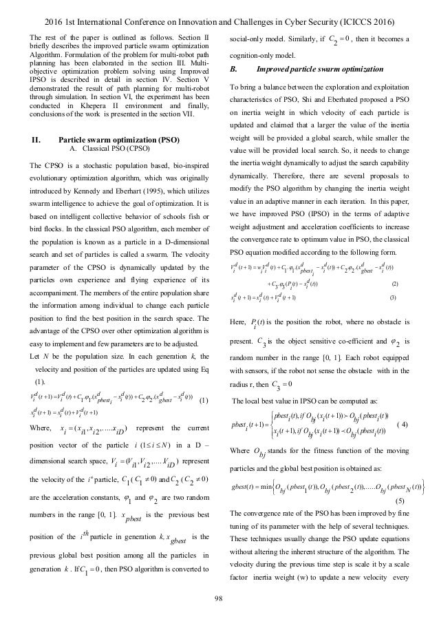 particle swarm optimization example problems
