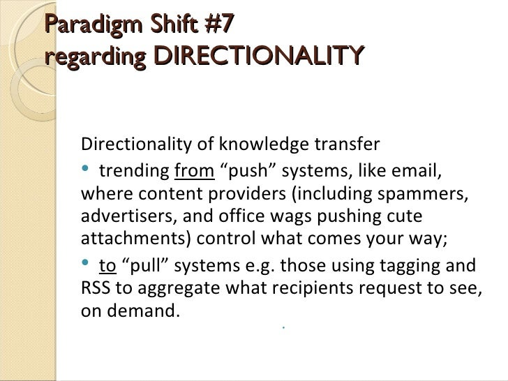 what is a paradigm shift example