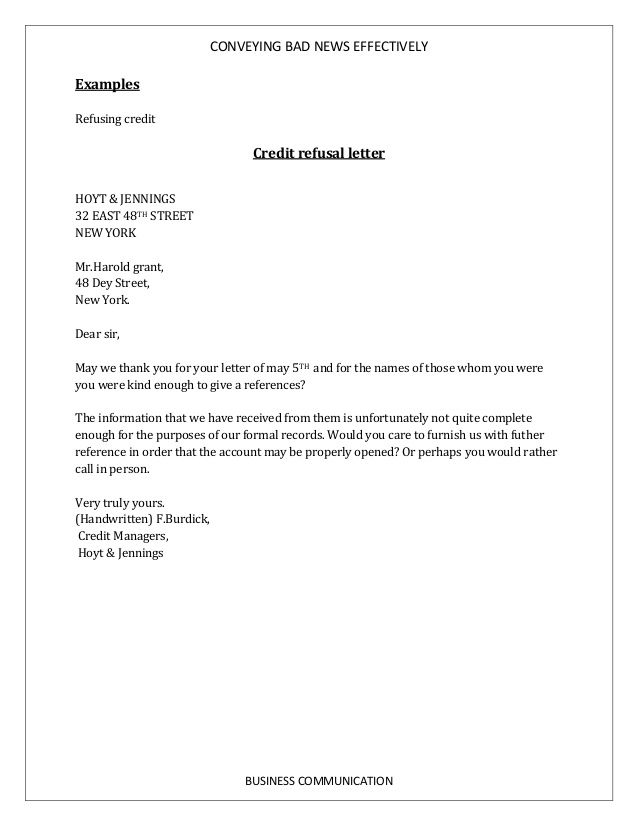 example of business communication letter