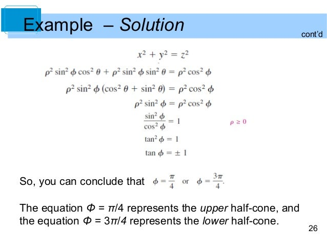 cartesian to cylindrical coordinates example