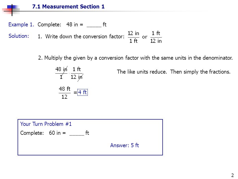 what is a conversion factor example