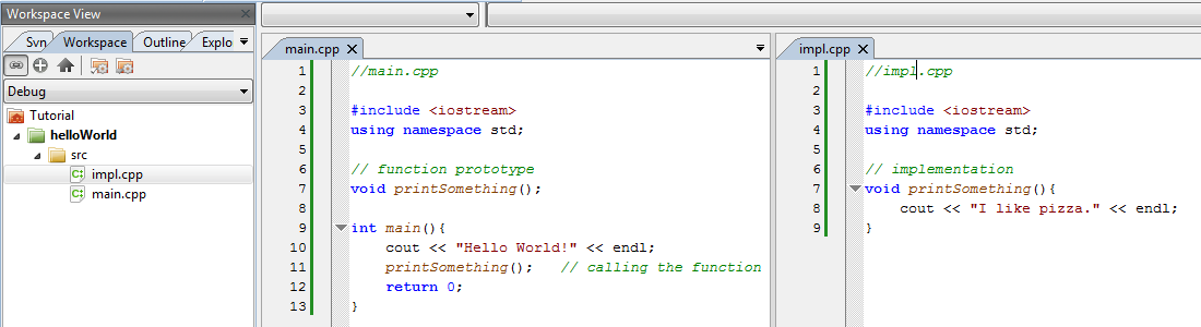 header file example in cpp
