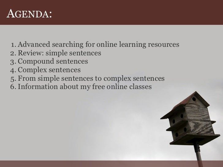 2 example of complex sentence