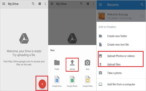 upload file to google drive android example
