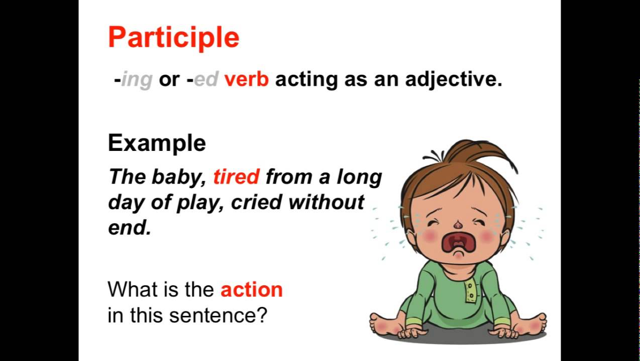 what is an example of a participle