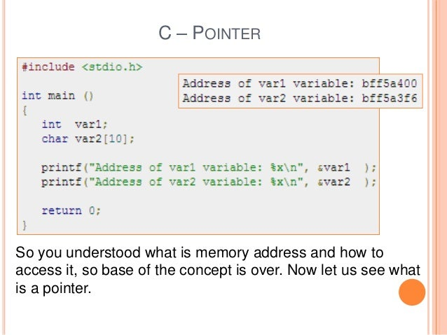 explain pointer to pointer with example in c