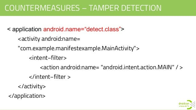 android application class example manifest