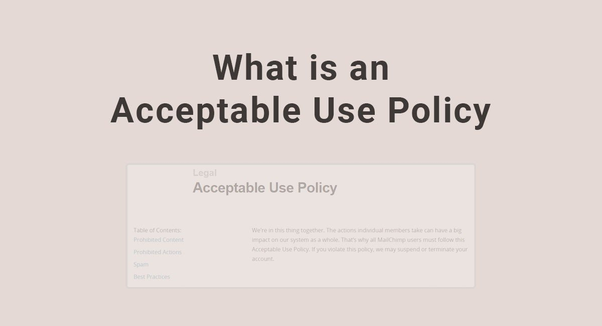acceptable use policy example business