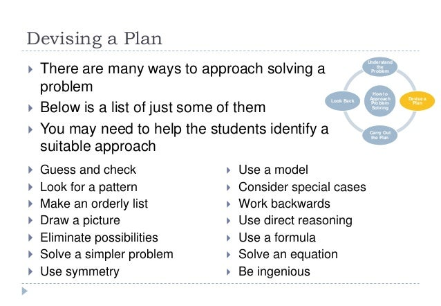 7 step problem solving example