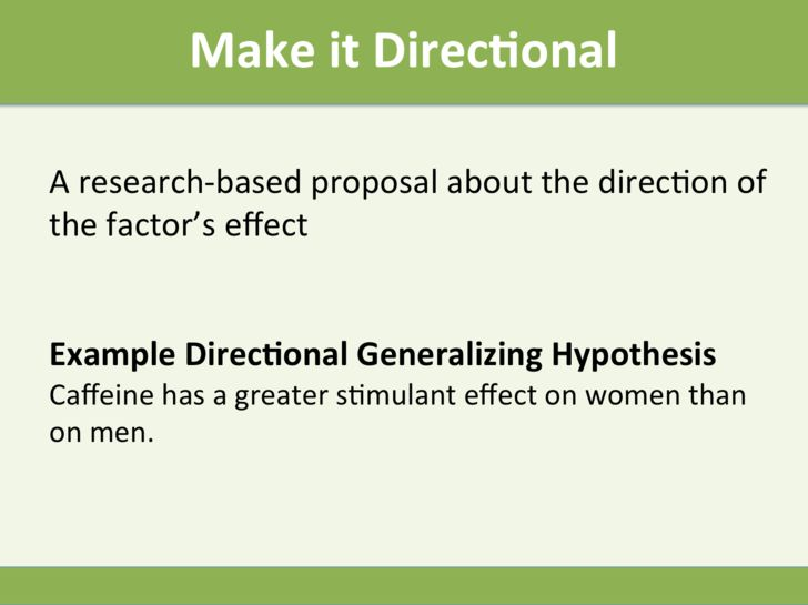how to make a hypothesis example
