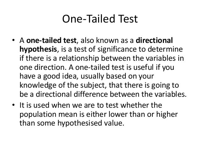 a one-tailed research hypothesis example