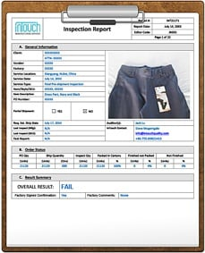 product quality review report example