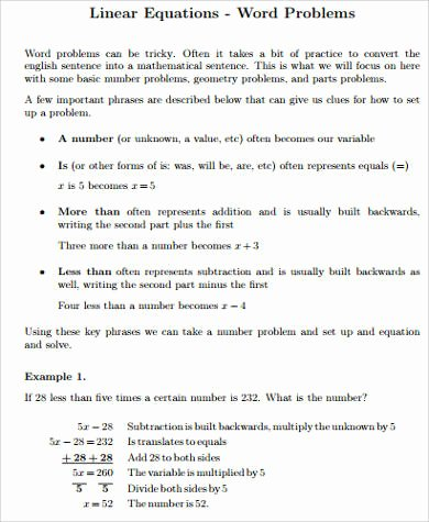 example of linear programming problem with solution