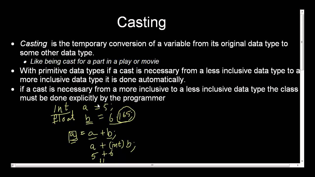 type casting in java with example