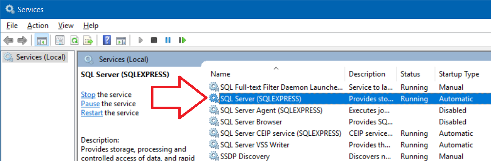 c sql express connection string example