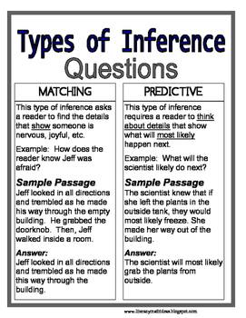 what is an example of an inference question