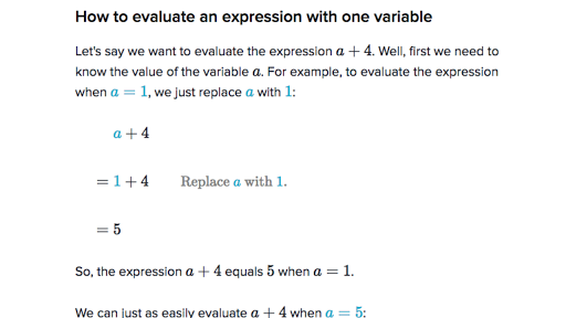 which is an example of an algebraic expression 1 point