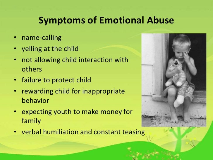example of a child being emotional abuse