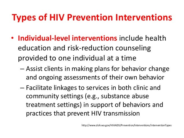 example of an intervention that strengthens the individual
