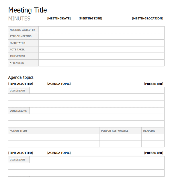 example of minutes of meeting format