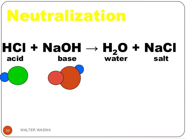 example of neutralization reaction in nature