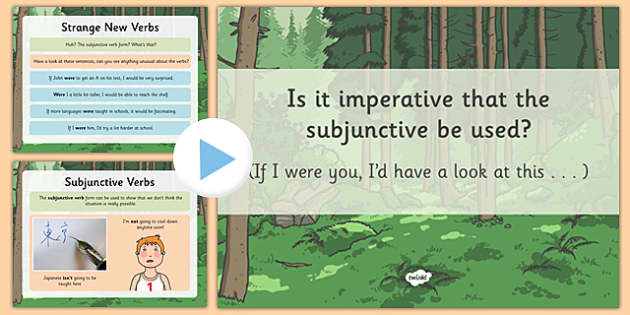 example of present subjunctive in english