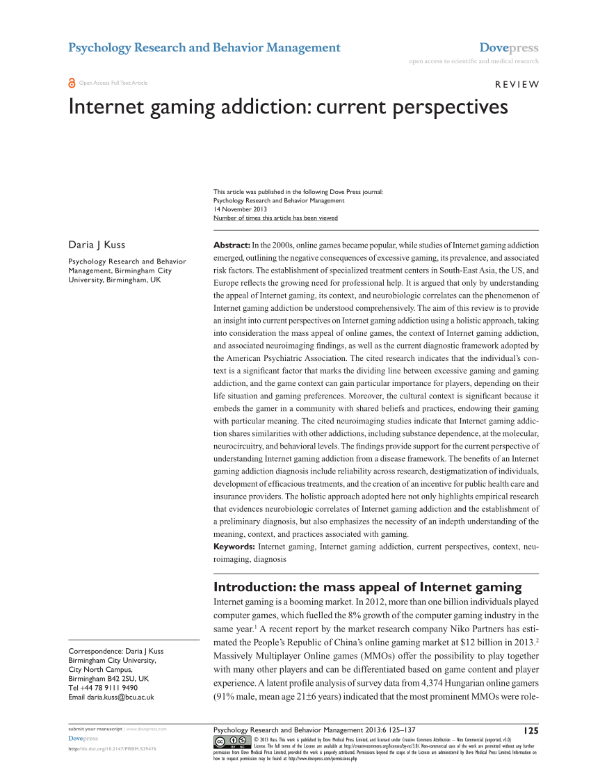 example of research paper about computer addiction