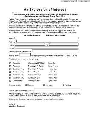 expression of interest letter sample example