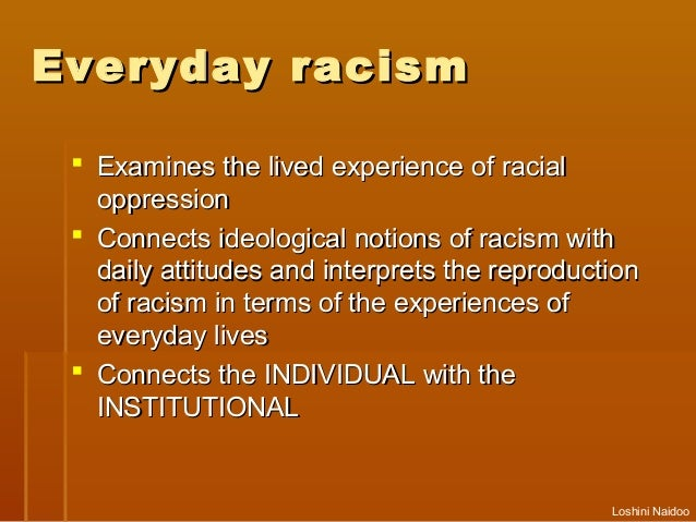 an example of institutional racism