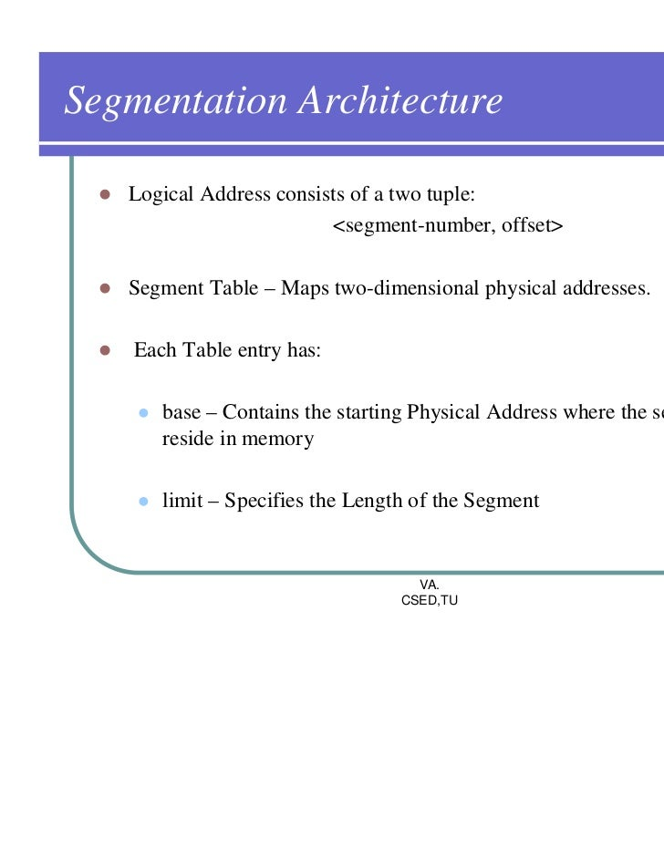 paging and segmentation in os example