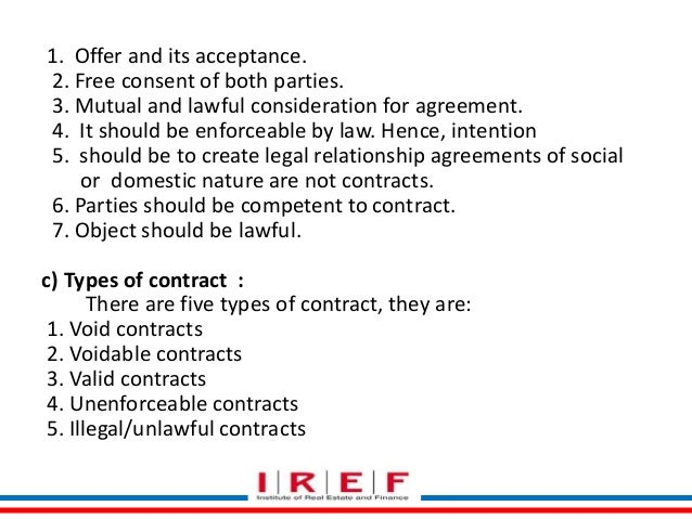 lawful object of a contract example