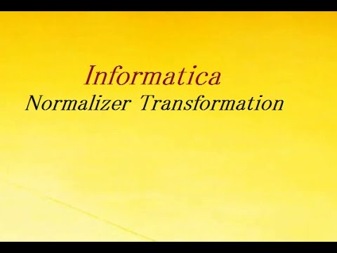 normalizer transformation with example youtube
