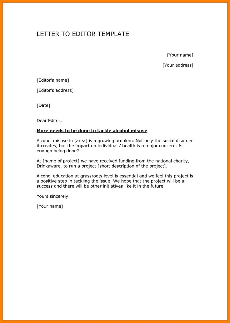 official letter in english example