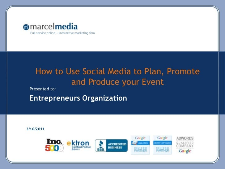 social media plan for event example
